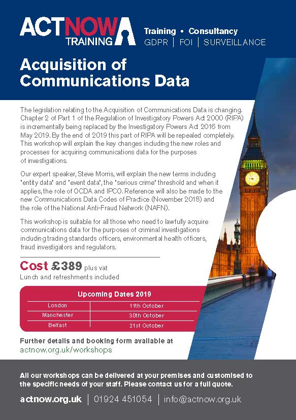 Acquisition of Communications Data Page 1