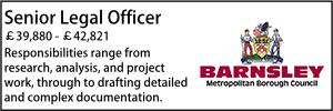 Barnsley Senior Legal Officer