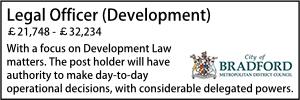 Bradford Legal Officer Development