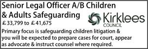 Kirklees March 20 Senior Legal Officer Childrens Lit