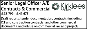 Kirklees March 20 Contracts ab
