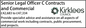 Kirklees May 20 Senior Legal Officer C Contracts