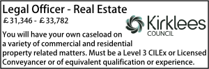 Kirklees Oct 20 Legal Officer Real Estate
