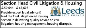Leeds Feb 20 Section Head Litigation Housing