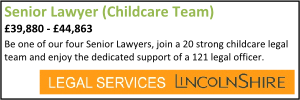 Lincolnshire Sept 20 Senior Childcare