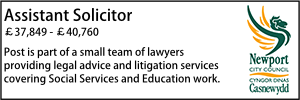 Newport Jan 20 Assistant Solicitor