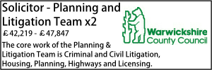 Warwickshire June 20 Planning and Litigation