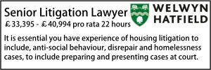 Welwyn Jan 20 Litigation Part Time