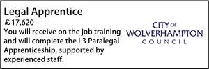 Wolverhampton Oct 21 Legal Apprentice