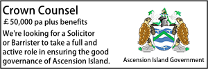 Ascension Island May 21 Crown Counsel