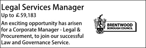 Brentwood April 21 Legal Services Manager