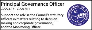 Bucks July 21 Principal Governance Officer