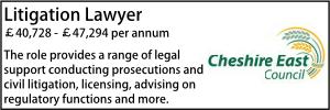 Cheshire East Dec 20 Litigation