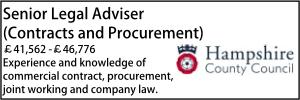 Hampshire Senior Legal Adviser (Contracts and Procurement)