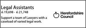 Herefordshire Oct 21 Legal Assistants