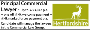 Hertfordshire May 21 Principal Commercial Lawyer