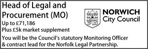 Norwich March 21 Head of Legal