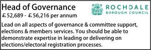 Rochdale July 21 Head of Governance