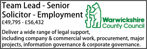 Warwickshire CC Sept 21 Employment