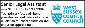 West Sussex May 21 Legal Assistant