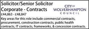 Wolverhampton July 21 Senior Commercial