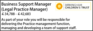 Birmingham June 20 Business Support Manager