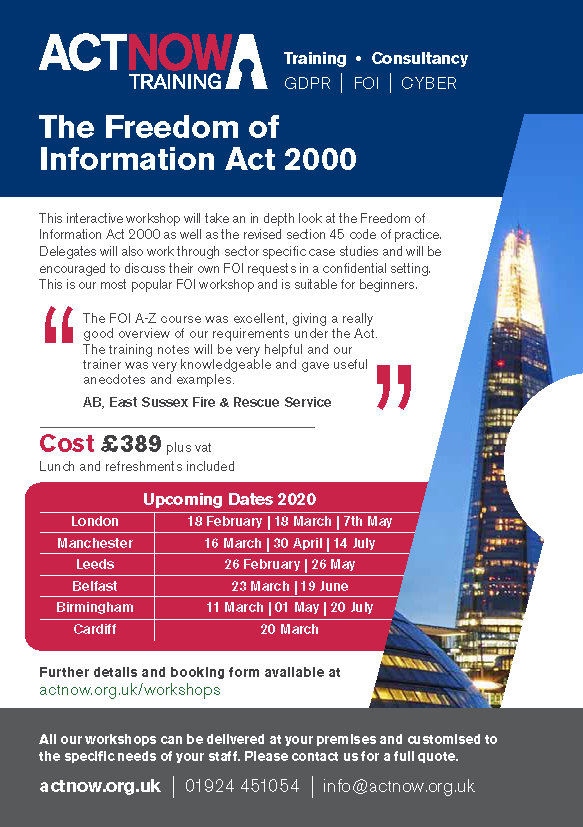Freedom of Information Act 2000 An A Z Guide Page 1