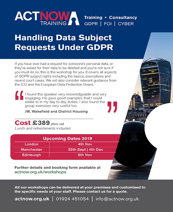 Handling Data Subject Requests Under GDPR Page 1
