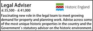 Historic England legal vacancy