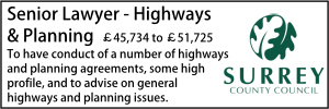 Surrey Senior Planning and Highways