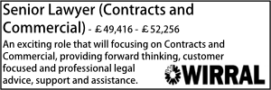 Wirral Nov 20 Senior Lawyer Contracts