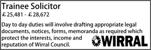 Wirral Nov 20 Trainee Solicitor