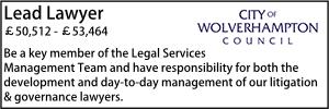 Wolverhampton Feb 20 Lead Lawyer